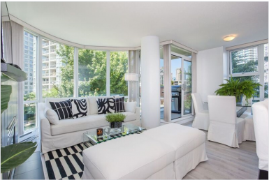 Furnished Apartment Vancouver - Two Bedroom - Marinaside Crescent - HighStreet Accommodations